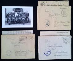 3 Briefe Feldpost Karl Wurm Oranienburg Stab Lager Natzweiler