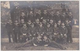 Kapit�nleutnant Weddigen, EK geschm�ckte Mannschaft des Unterseeboot U9, S.M.S. Moltke, Marine-Feldpost