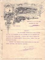 RHÔNE - LYON - PARIS - ART NOUVEAU - FEMME - IMPRIMERIE - ETABLISSEMENTS LITHOGRAPHIQUES - B. ARNAUD - LETTRE - 1913 - Imprimerie & Papeterie