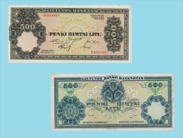 Lithuania 500 Litu 1924    .g. .G. - REPROCTIONS -( X003 ) - COPY - Lituanie