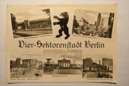 """(6/5/58) AK """"Berlin"""" Vier-Sektorenstadt, Mehrbildkarte Mit 5 Ansichten - Ohne Zuordnung"""