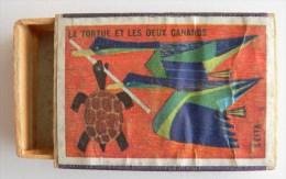 """Fable """"la Tortue Et Les Deux Canards"""" - Boites D'allumettes"""