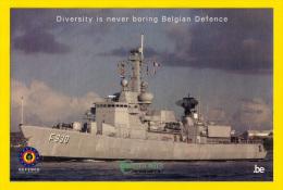 Sticker F930 LEOPOLD 1 Fregat 10cm X 15cm DIVERSITY IS NEVER BORING MARINE ZEEMACHT Autocollant FORCE NAVALE NAVY 2829 - Bateaux