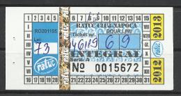 Romania, Cluj-Kolozsvar,  Bus ticket,  Monthly, 2012.