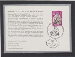 Merkur Karte ANK 1393 Kunst Krems  Phila-Archiv Ersttag 1971 - FDC