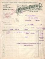 NANCY - CLAIRVAUX - VALENTIGNY - SCIERIE - TONNELLERIE & BOISSELLERIE MECANIQUES - KRUG FILS & FILS - 1930 - France