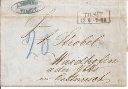 1863 - TILSIT, Gute Zustand, 3 Scans - Briefe U. Dokumente