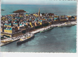 SAINT MALO  (35- Ile Et Vilaine), Vue Aérienne, Paquebots, Cliché Ouest-Eclair, Ed. CAP 1949 - Saint Malo