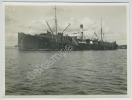 "(Bateaux) Cargo ""Katie"" transportant du bois. Photo Nyblin (Finlande), 1928."