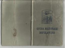 88845 ANTICA TESSERA OND OPERA NAZIONALE DOPOLAVORO 1928 - Documenti Storici