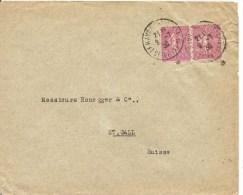 1930, France, Lettre, Le Havre à Suisse, Mi 165 Pair , Siehe Scan! - Cartas