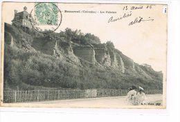 CPA (14) BEUZEVAL -Les Falaises - Animée - (008) - Other Municipalities