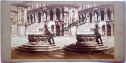 Stereoscopic Photo Stéréo XIX 1860 1870 VENISE VENICE Italie Italia Italy - Stereoscopic