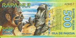 500 Rongo 2011 (iles De Pacques) - Billets