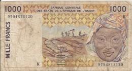1000 Francs 1995 Senegal - Sénégal
