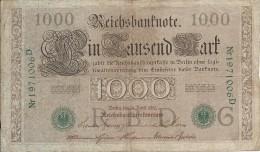1000 Mark 1910 - [ 4] 1933-1945 : Troisième Reich