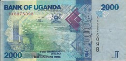2000 Schillings 2010 - Uganda