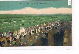 CPA (14) DEAUVILLE- Pendant La Course De Chevaux . Cachet Au Dos .(017) - Deauville