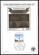 Bund Gedenkblatt 20. Hanse Sail Mit Vignettenblock (gold) 2010 Auflage Welweit 500 - BRD