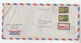 1965 Air Mail ECUADOR  COVER Stamps 1.00 UNIVERSITY , 2x 2.00 Jose Carlos De Macedo Soares To Germany - Ecuador