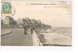 CPA (14) LANGRUNE-SUR-MER - Les Falaises .Plage  , Animé . (038) - France
