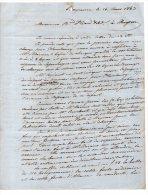 64 - BAYONNE . 40 - MUGRON . LETTRE DE M. CIRON NÉGOCIANT, ARMATEUR ADRESSÉE À M. HIARD LE 16 MARS 1863 - Réf. N°206F - - Manuscripts