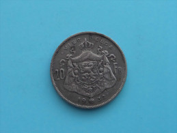 1932 - VIER BELGA - 20 FRANCS ( Morin 379 ) ( Uncleaned - For Grade, Please See Photo ) ! - 11. 20 Francs & 4 Belgas