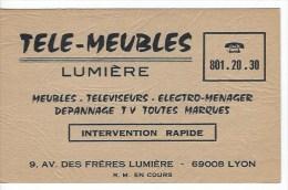 Carte Visite Publicité Dépannage Telé à Lyon - Cartes De Visite