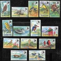 LESOTHO Oiseaux, Rapaces; Birds, Vögel, Yvert 442/55.  ** Neuf Sans Charniere MNH. - Colecciones & Series