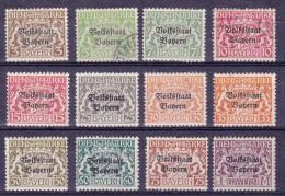 BAYERN/BAVARIA/BAVIÈRE/ BEIEREN - Duitsland - 1919 DIENSTZEGELS 30...42A (uitgezonderd 35 En 42A) - ° - Beieren