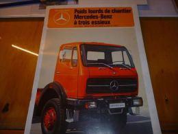 CB5 Document Commercial Poids Lourds De Chantier Mercedes Benz 1978 ? - Camions