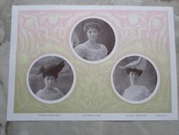 Hungary -Aristocracy - Wenckheim Erzsébet  Vay Gabriella  Grófnök - Szalon Ujság  1907  -   Hungarian Print  S0009