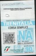 Biglietto corsa semplice metropolitana linea 2  Napoli 2015 usato