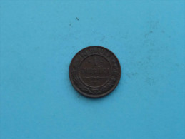 1896 CMB - 1 Kopek / Y# 9.2 ( Uncleaned - For Grade, Please See Photo ) ! - Russie
