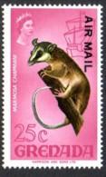Grenada 1971 Airmail Overprints 25c Opossum, MNH - Grenade (...-1974)