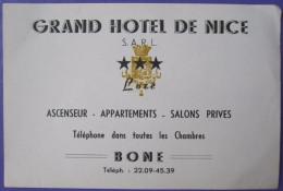 MISC HOTEL MOTEL PENSION MOTOR HOUSE INN GRAND NICE FRANCE LUZE BONE LUGGAGE LABEL ETIQUETTE AUFKLEBER DECAL STICKER - Hotel Labels