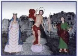 Arena (Vibo Valentia) - Santino Formato Cartolina SACRO TRITTICO PASQUALE (statue Lignee Del Sec XVIII) - PERFETTO - Religione & Esoterismo