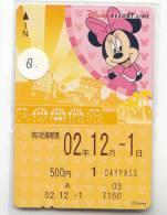 DISNEY Prepaidcard Japan (8)  Prepaid Karte Japan * Carte Prepayee Japon - Disney