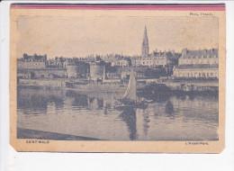 SAINT MALO  (35- Ile Et Vilaine), L'Avant-Port, Cargo, Voilier, Pjoto Penard Vers 1910 - Cargos