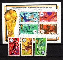 Antigua - Redonda 1979 Football Sccer World Cup Set Of 3 + S/s MNH - World Cup