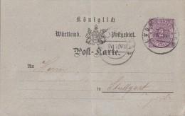 Württemberg Ganzsache Minr.P16/04 Ludwigsburg 1.6.75 - Wuerttemberg