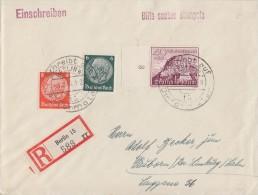 DR R-Brief Mif Minr.516,517,738 Berlin 3.2.40 - Briefe U. Dokumente