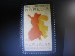 Carelie Carelia Karelia WW! 1 World War Consecuences Vignette Poster Stamp Label Finland - Finland