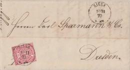 NDP Brief EF Minr.16 Riesa 10.11.70 - Norddeutscher Postbezirk