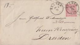 NDP Ganzsachen-Umschlag 1 Groschen Bremen 18.3.71 - Norddeutscher Postbezirk