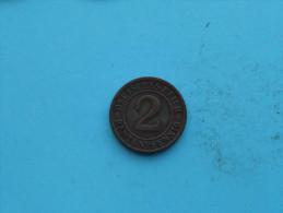 1924 E - 2 Rentenpfennig / KM 31 ( Uncleaned Coin / For Grade, Please See Photo ) !! - 2 Rentenpfennig & 2 Reichspfennig