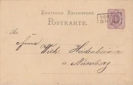 DR Ganzsache Nachv. Stempel Worbis 25.11. Gel. Nach Nürnberg - Deutschland
