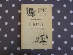 CEHG Revue N° 10 Gedinne Régionalisme Ardenne Guerre 1914 1918 Patignies Vencimont Rienne Sart Custinne Bodet Willerzie - Culture