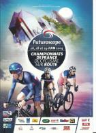 Futuroscope - Championnats De France De Cyclisme Sur Route , Juin 2014 , Détail Des épreuves Au Dos - Radsport
