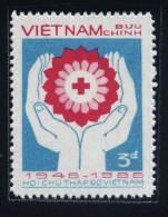 Vietnam Viet Nam MNH Stamp 1986 , 40th Anniv .of Vietnamese Red Cross, Scott#1685,CV$0.85 (Ms501) - Vietnam